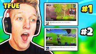 TFUE REACTS TO SURPASSING NINJA ON TWITCH | Fortnite Daily Funny Moments Ep.188