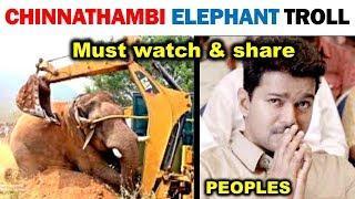 CHINNA THAMBI ELEPHANT TROLL | Bring Back Chinnathambi | MADRAS PRANK