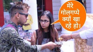 EATING GIRL'S PANI PURI PRANK By Desi Boy | Prank In India | Epic Reactions