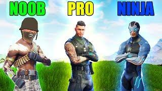 NOOB vs PRO vs NINJA in Fortnite Battle Royale! (Fortnite Funny Fails and Best Moments) #79