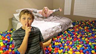 BALL PIT BALLS PRANK! Filled my Parents Room with Ball Pit Balls