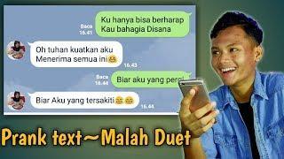 gagal-Malah duet Prank text mantan Aldi Maldini biar aku yang pergi