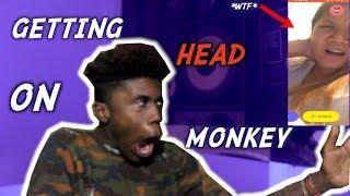 GETTING HEAD ON MONKEY APP PRANK *GETS FREAKY*