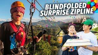 BDAY BLINDFOLDED ZIPLINE PRANK!! | Ranz and Niana