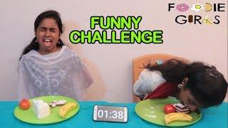 FUNNY FOOD GAMES WITH FOODIES GIRLS | FOOD CHALLENGE TAMIL