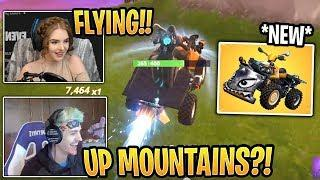 Streamers First Time Using *NEW* Quadcrasher! - Fortnite Best and Funny Moments