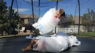 EXTREME BUBBLE WRAP SUMO WRESTLING