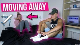 MOVING AWAY PRANK ON GIRLFRIEND *SHE STARTED CRYING*