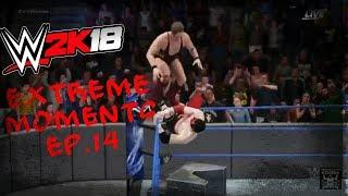 WWE 2K18 Extreme Moments Ep.14 ( Stairs Glitch After Patch 1.07)