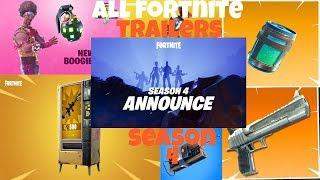 ALL FORTNITE TRAILERS (SEASON 4 EDITION)
