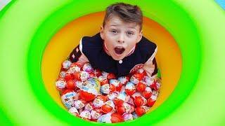 Ali surprise egg seek, funny videos for kids