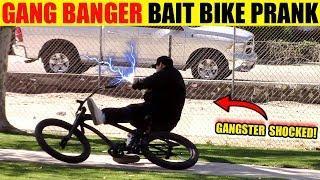 GANG BANGER Bait Bike Prank!! THIEF SHOCKED!!!