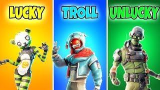 LUCKY vs TROLL vs UNLUCKY - Fortnite Battle Royale Funny Moments!