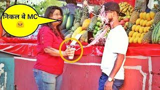Eating Girls Pani Puri with Juice ????Prank In India (Gone Wrong)