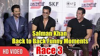 Salman Khan Back to Back Funny Moments | Race 3 Official Trailer Launch | #Race3ThisEID