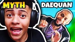 MYTH GETS SCARED BY TSM DAEQUAN ON STREAM | Fortnite Daily Funny Moments Ep.65