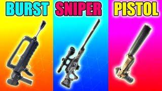 BURST vs SNIPER vs PISTOL in Fortnite Battle Royale! (Fortnite Funny Fails and Best Moments) #22