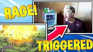 BEST NINJA RAGE REACTION! Fortnite Funny Daily Moments