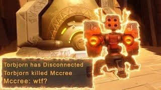 He Got A Kill From A DISCONNECT?!? (INSANE GLITCH) - Overwatch Funny Moments & Best Plays #95