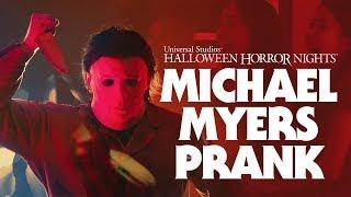 Prank Video of Michael Myers Screen Surprise for Halloween Horror Nights 2018
