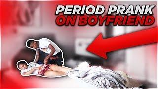 PERIOD PRANK ON BOYFRIEND! (HE PASSED OUT)