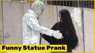 Statue Prank on Cute Girls   Funky Joker