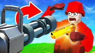 HUGE MINIGUN vs SECRET WEAPON IN Ravenfield (Ravenfield Funny Gameplay)