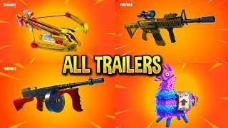 Fortnite All *NEW ITEM* Trailers (Thermal Scope AR, Drum Gun, CrossBow)