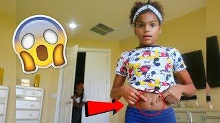 10 YEARS  OLD GETS HER BELLY PIERCED !!! ( PRANK)