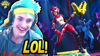 NINJA REACTS TO *NEW* TRICERA OPS SKIN! *LEGENDARY* Fortnite SAVAGE & FUNNY Moments