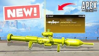*NEW* ROCKET LAUNCHER WEAPON LEAK IN APEX!.. Apex Legends WTF & Funny Moments #32