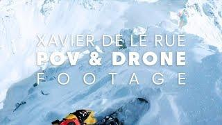 STEEPEST freeride terrain: POV and drone view of Bec de Roses, Verbier