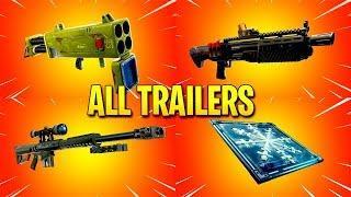 Fortnite All *NEW ITEM* Trailers (Quad Launcher,Freeze Trap,Heavy Sniper)