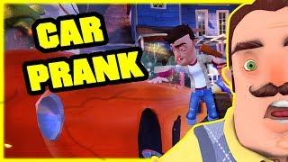 DESTROYING MY NEIGHBOR'S CAR PRANK - Hello Neighbor Mod