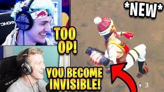 Streamers First Time Using *NEW* Shadow Bomb! *INVISIBILITY* | Fortnite Highlights & Funny Moments