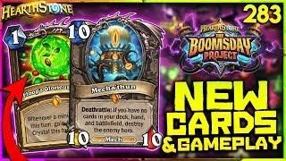 NEW BOOMSDAY CARDS REVEAL STREAM & GAMEPLAY | Hearthstone Boomsday Project WTF Funny Moments Ep.283