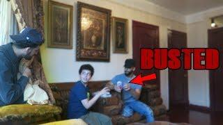 CAUGHT HIM BREAKING HIS FAST PRANK BACKFIRES!