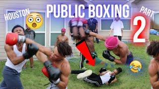 PUT THE GLOVES ON PUBLIC BOXING ???? PART 2 (EXTREME NO RULES EDITION)