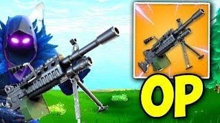 NEW LIGHT MACHINE GUN IS OP Fortnite - Funny and OP Moments