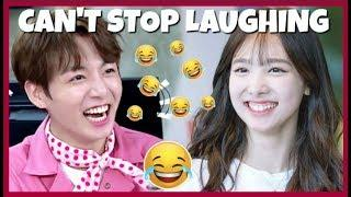 KPOP IDOLS : CAN'T STOP LAUGHING (FUNNY) #1  ????  - BTS BLACKPINK TWICE EXO