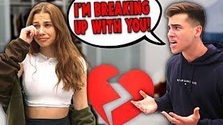 Break Up Prank On Girlfriend.. **She Cried**