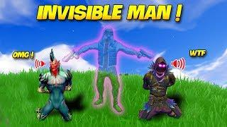 *HACKER* INVISIBLE MAN...! | Fortnite Twitch Funny Moments #135