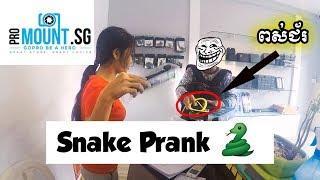 Snake Prank at Pro Mount Cambodia ????