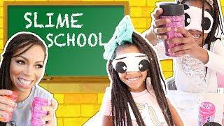 Slime School Teacher Cheated with Blindfolded Test Prank ! New Toy School