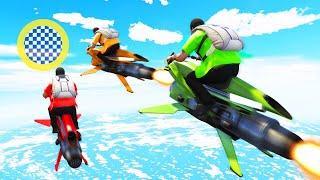 $10.000.000 FLYING BIKE RACE! (GTA 5 Funny Moments)
