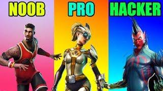 NOOB vs PRO vs HACKER in Fortnite Battle Royale Funny Moments! #58