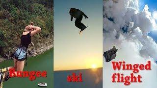 Vskit Extreme Sports Short Video HighlightsBungee movementskiWinged flight
