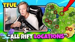 FaZe TFUE SHOWS ALL RIFT LOCATIONS | Fortnite Daily Funny Moments Ep.135