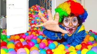 Ball Pit Prank My Brother Clown In The Bedroom !!! funny kids video