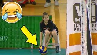 GIRL STOPS POINT !? Funny Volleyball Videos (HD)